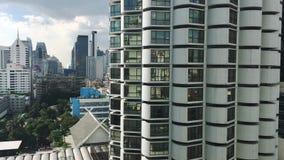 曼谷Sukhumvit旅馆和公寓城市scape 股票录像