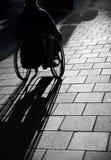 曼轮椅 免版税库存图片
