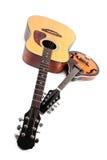 曼陀林和声学吉他 库存照片