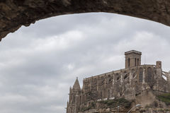 曼雷萨,卡塔龙尼亚,西班牙 免版税库存照片