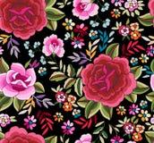曼顿披肩,西班牙花卉图案 图库摄影