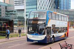 曼彻斯特公共汽车 库存图片