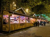 曼彻斯特圣诞节市场,英国 库存照片