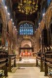 曼彻斯特大教堂唱诗班 库存图片