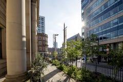 曼彻斯特街场面 免版税库存图片
