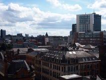 曼彻斯特,英国屋顶  库存图片