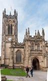曼彻斯特,英国- 2014年3月08日:曼彻斯特大教堂 免版税库存照片