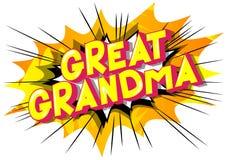 曾祖母-漫画样式词 皇族释放例证