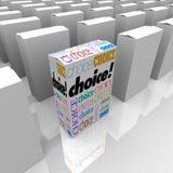 替代把不同的选择装箱许多一个 免版税图库摄影
