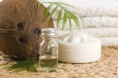 替代椰子油疗法 免版税库存图片