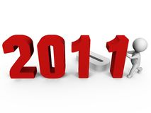 替换对年的2011个3d表单ima新的编号 向量例证