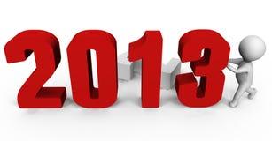 替换对年的2013个3d表单ima新的编号 向量例证