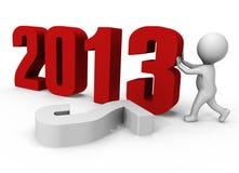 替换对年的2013个3d表单ima新的编号 免版税库存照片
