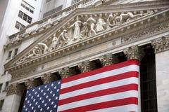 替换新的股票美国wallstreet约克 图库摄影