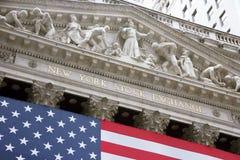 替换新的股票美国wallstreet约克 免版税图库摄影
