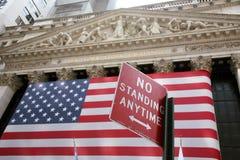 替换新的股票美国wallstreet约克 免版税库存照片