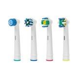 替换电牙刷的刷子头 免版税库存图片