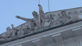替换老彼得斯堡俄国圣徒股票 关闭纪念碑 股票视频