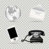 替代项上色通信图标包括的集 库存图片