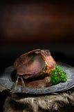 最上端股肉牛肉 库存照片