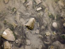 最低水位河 图库摄影