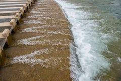 最低水位横穿 图库摄影
