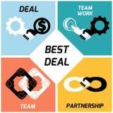 最佳的交易 小组工作 图标被设置的互联网图表导航万维网网站 平面 免版税库存照片