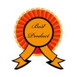最佳的产品徽章 免版税库存照片