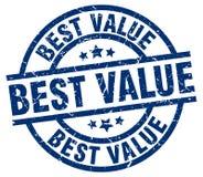 最佳的价值邮票 向量例证