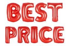 最佳的价格,红颜色 免版税库存图片
