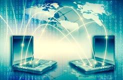 最佳的企业概念概念全球地球发光的现有量互联网系列 计算机流动性、互联网通信和云彩 库存照片