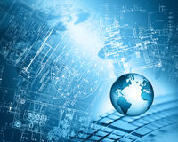 最佳的企业概念概念全球地球发光的现有量互联网系列 库存图片