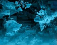 最佳的企业概念概念全球地球发光的现有量互联网系列 免版税库存照片