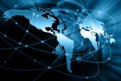 最佳的企业概念概念全球地球发光的现有量互联网系列 库存照片