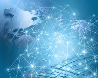 最佳的企业概念概念全球地球发光的现有量互联网系列 图库摄影