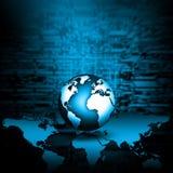 最佳的企业概念概念全球地球发光的现有量互联网系列 免版税图库摄影