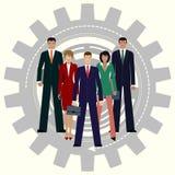 最佳的企业队 齿轮配合概念 图库摄影