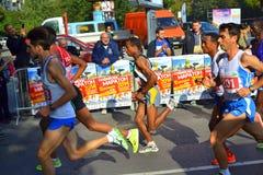 最佳的保加利亚马拉松运动员索非亚 免版税库存照片