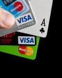 最佳的信用卡 免版税库存照片