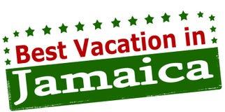 最佳的假期在牙买加 库存例证