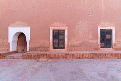 最佳的内部kasbah摩洛哥ouarzazate taourirt 瓦尔扎扎特 摩洛哥的最好 免版税库存照片