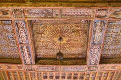 最佳的内部kasbah摩洛哥ouarzazate taourirt 瓦尔扎扎特 摩洛哥的最好 库存图片