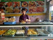 最佳的印地安街道食物所有时刻击中了Paav VadaaðŸ `  图库摄影