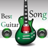 最佳的吉他歌曲 免版税库存照片