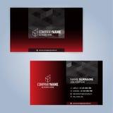 最佳的名片原来的打印准备好的模板向量 染黑红色 库存图片