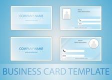 最佳的名片原来的打印准备好的模板向量 免版税库存照片