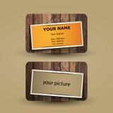 最佳的名片原来的打印准备好的模板向量 免版税库存图片