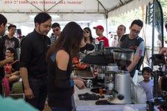 最佳的咖啡&茶在辛哈公园 做冰冻咖啡,车间 库存图片