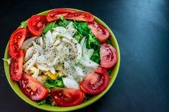 从最佳的基本的菜的健康食物有益于您 免版税图库摄影