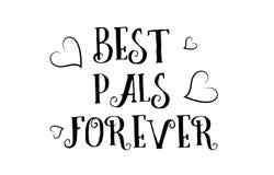 最佳的好朋友永远爱行情商标贺卡海报设计 库存例证